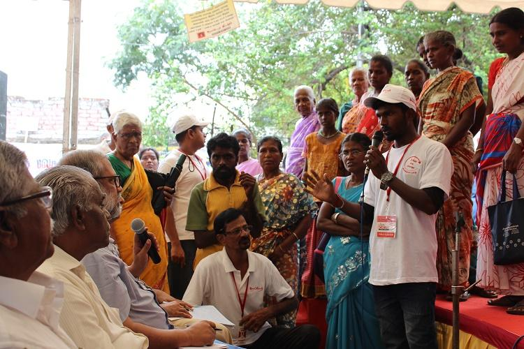 Kelu Chennai Kelu Hundreds participate in meet urging government to prepare for floods