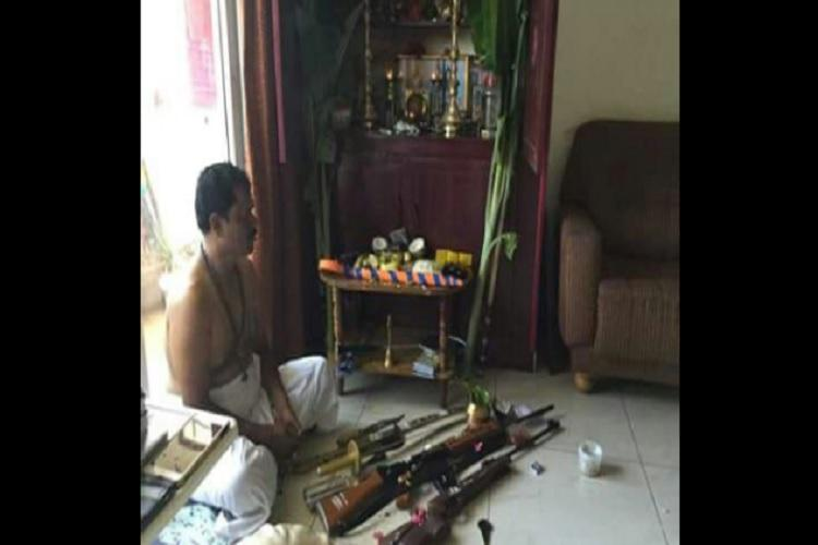 Muslim party files complaint against Hindu Makkal Katchi chief for allegedly possessing AK 47