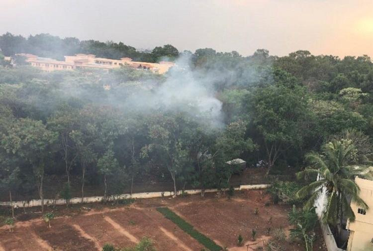 Army violates ban on burning of waste in open spaces Bengaluru residents fume