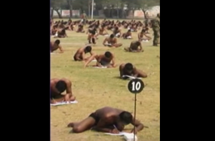 Entrance test in underwear Army HQ takes serious note to ensure fairness in exams