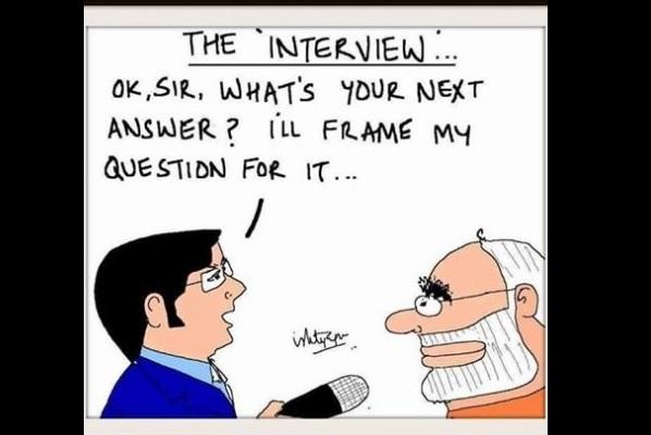 Arnab Goswami is being ripped apart online for his Modi interview