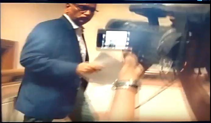Watch video Karnataka Chief Secretary runs up two floors in Vidhan Soudha to avoid media