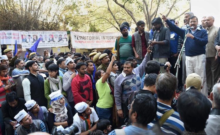 JNU row Centre at war with students says Kejriwal attacking PM Modi