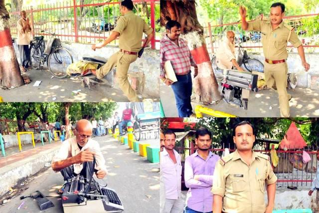In 30 years no one has behaved like this says man whose typewriter was smashed by cop