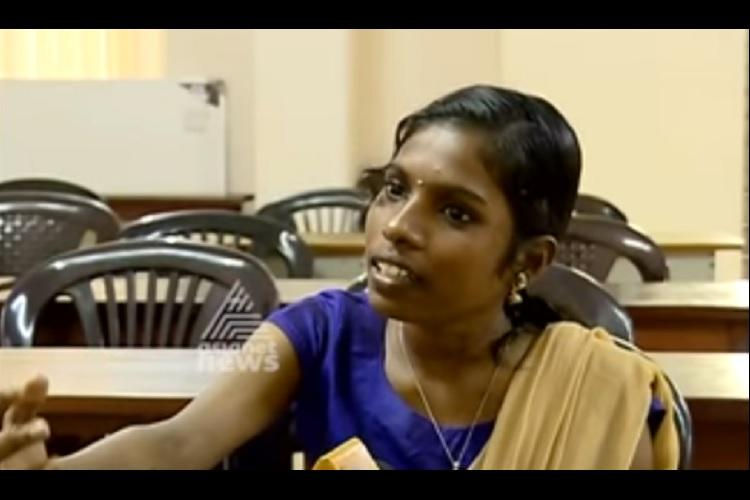 Months after having phenyl poured down her throat ragging victim Ashwathy back to college