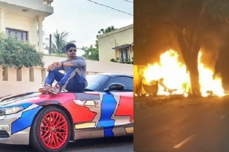 Racer Ashwin Sundar and wife charred to death after speeding BMW crashes near Marina
