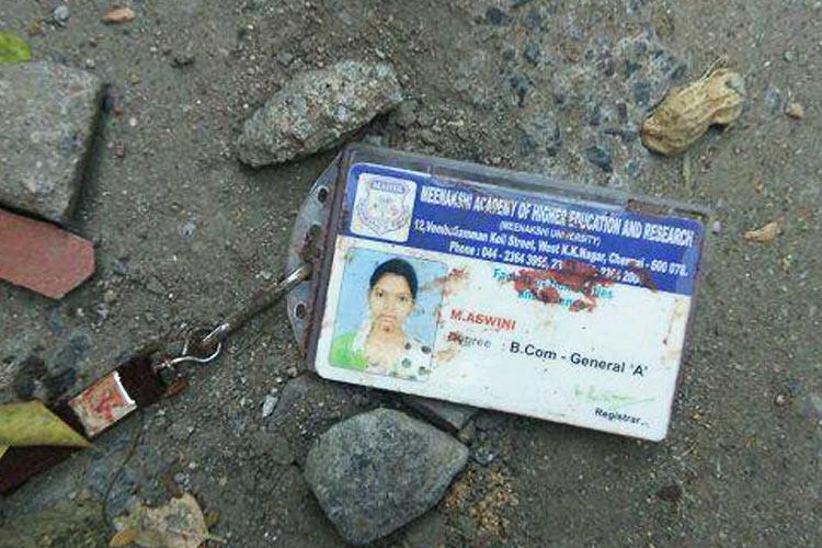 Chennai college girl hacked to death in broad daylight