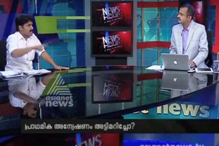 Big showdown on Asianets News Hour anchor asks Congressman to leave debate