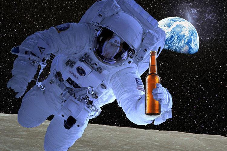 astronaut drinking beer shirt - photo #30