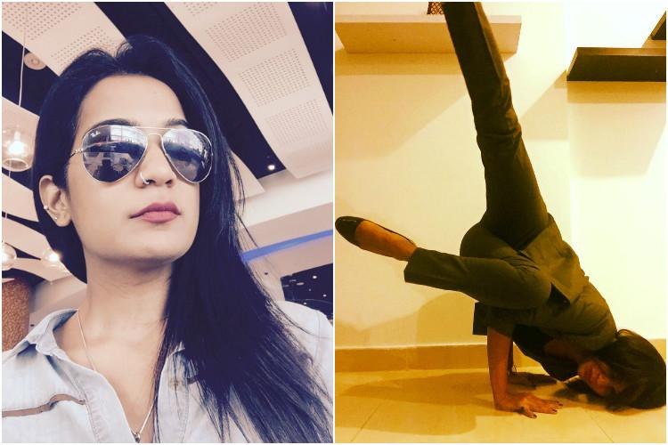 Forget yoga pants this Indian woman proves yoga can be done in just about anything