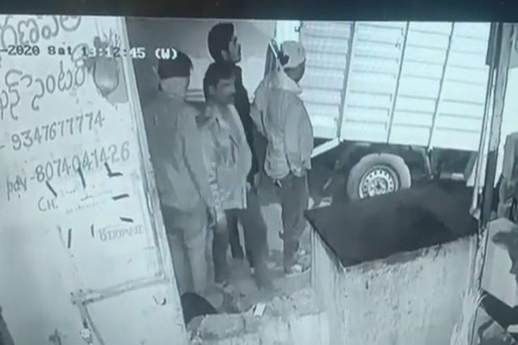 Watch 6 men steal ATM in Telangana abandon it as they couldnt break it open