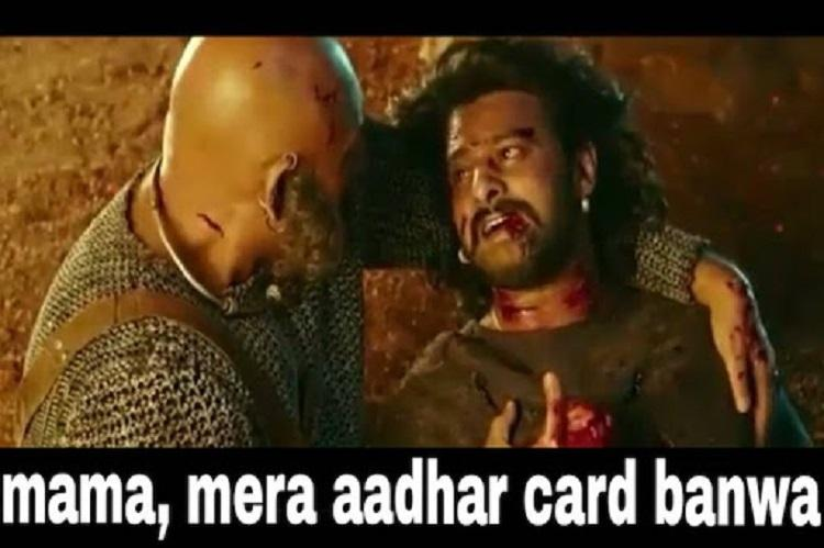 Kattappa make my Aadhaar card Baahubalis last words after govts latest rule