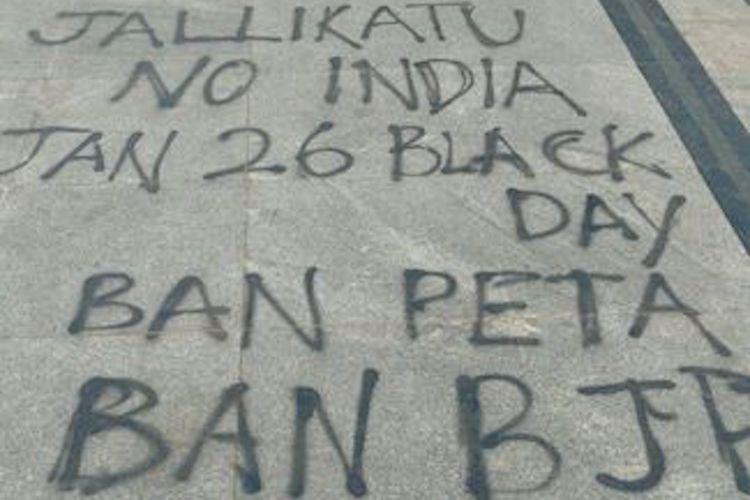 Ban BJP graffiti at Marina Where is your support for Indian culture protesters ask