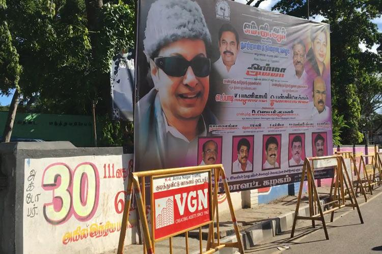 Madras HC orders removal of illegal banners on footpaths after MGR centenary revelry
