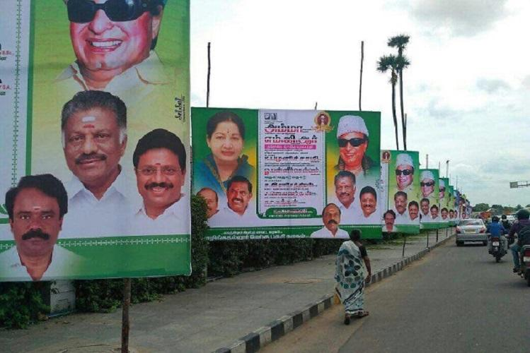 Days after Madras HC order political hoardings in Trichy to be taken down
