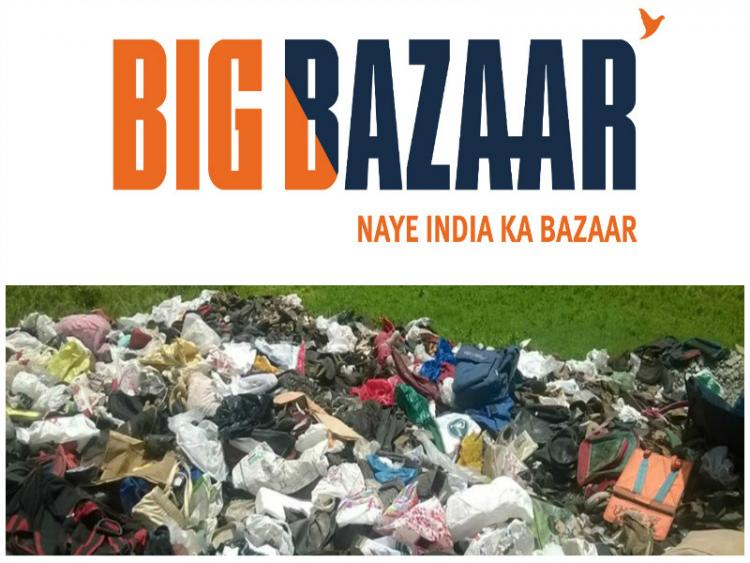 Big Bazaar in Kerala asks customers to bring old scrap coolly dumps it in public spaces by night