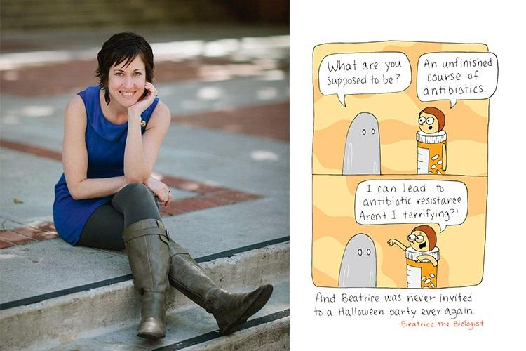 Beatrice the Biologist This ex biology teachers science comic is winning the internet