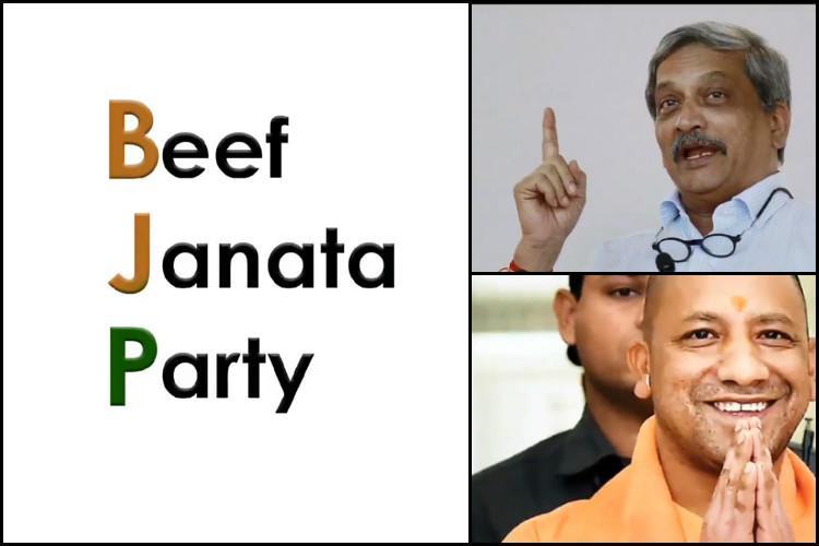Parrikar wants to import it Yogi wants to export it Ktaka Cong mocks beef politics