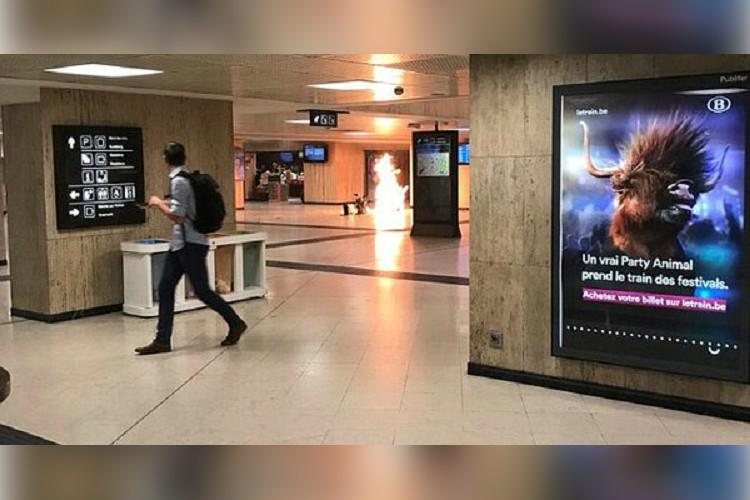 Belgium suspect shot after small explosion in main station
