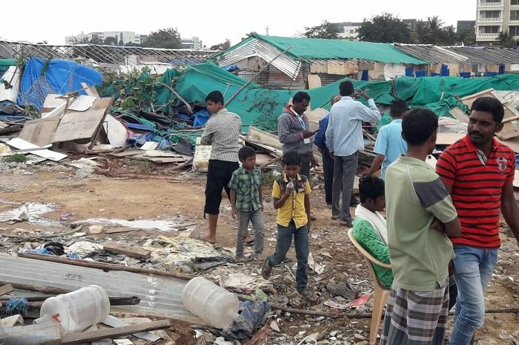 1000 people left homeless in Bengaluru as BBMP razes homes citing lake encroachment