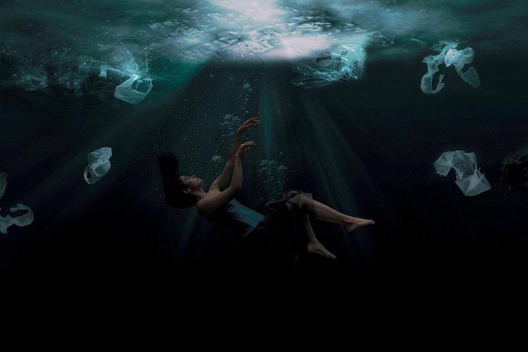 Rashmikas water pollution photoshoot dont worry she didnt actually enter Bellandur lake