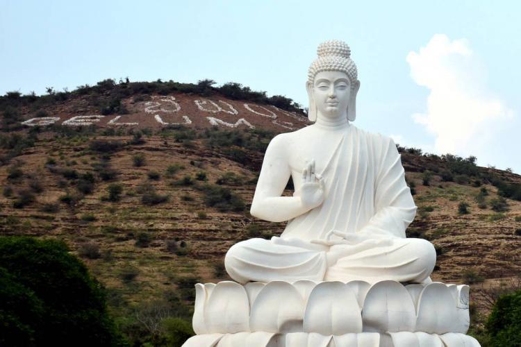 Buddha statue near Belum Caves in Kurnool district