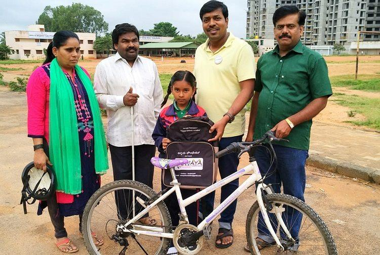 FB post helps visually impaired Bengaluru couple get bicycle for their daughter