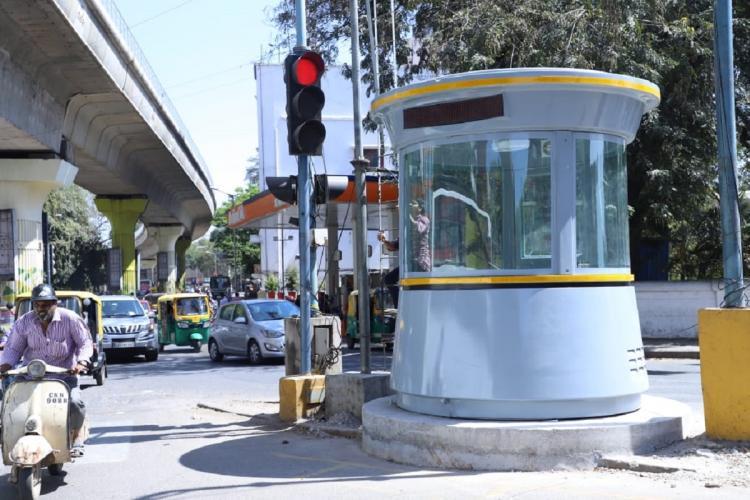 bengalurus traffic police kiosk