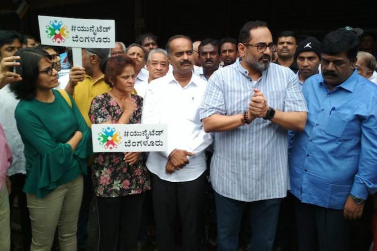 Blurus Indira Nagar residents protest against proposed demolition of BDA complex