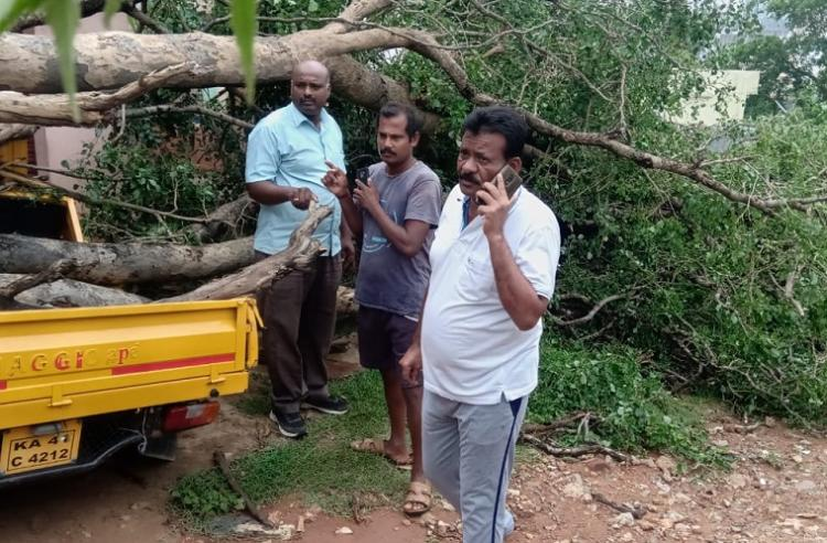 3 days of Bengaluru rains 2 dead trees uprooted electricity cut off in some places