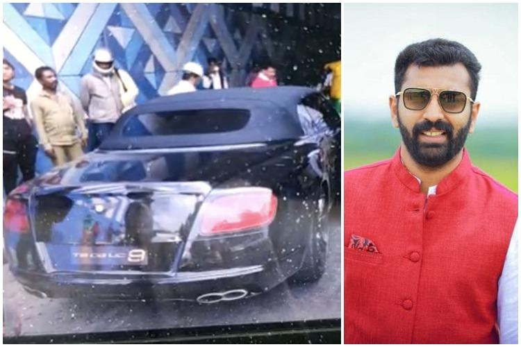 Mohammed Nalapad MLA NA Hariss son drove Bentley car that rammed bike and auto Cops