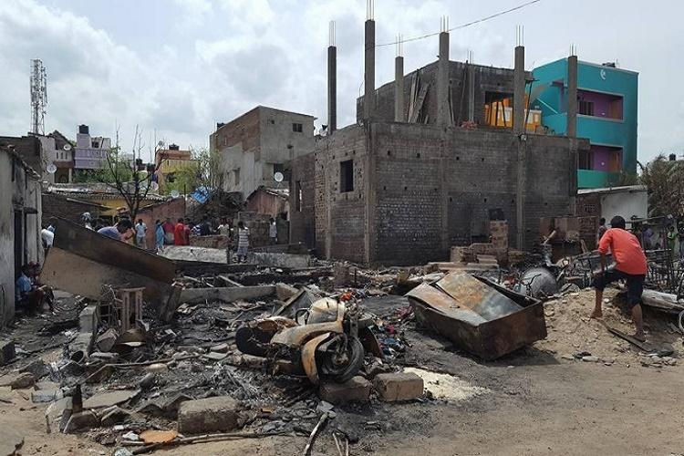 80 homes gutted in Besant Nagar beach fire in Chennai