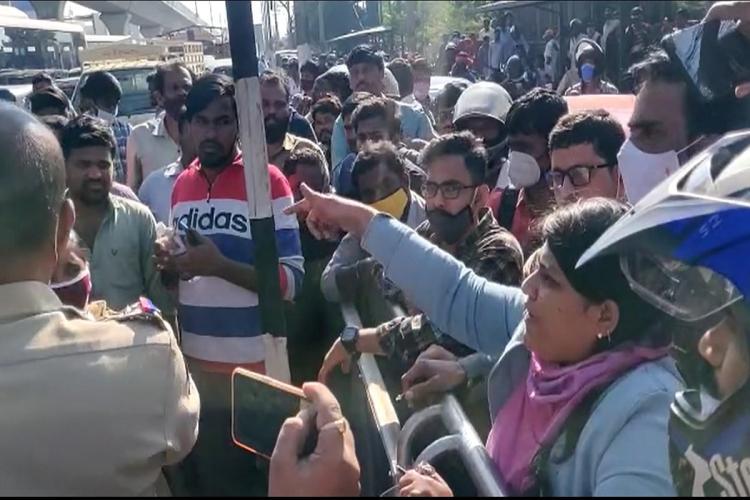Hyderabad saw partial shut down on December 8 bharat bandh