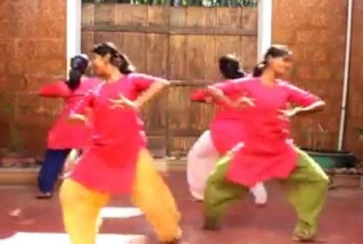 Bharatanatyam dancers give the Friends theme song a classical twist