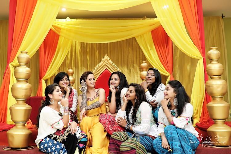 Images Actor Bhavanas fun mehendi with her besties