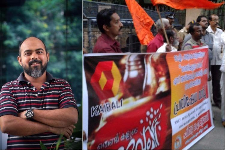 Malayalam anchor threatened after he names TV show about a temple as god of vagabonds