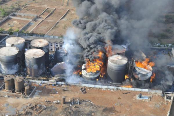 Day 3 of Vizag bio-diesel fire Officials still dousing flames