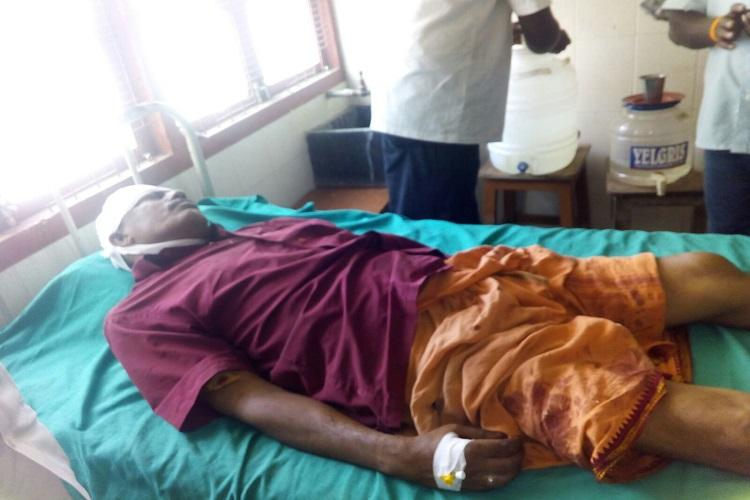 TN BJP member injured after brutal attack Hindu outfits stage protest