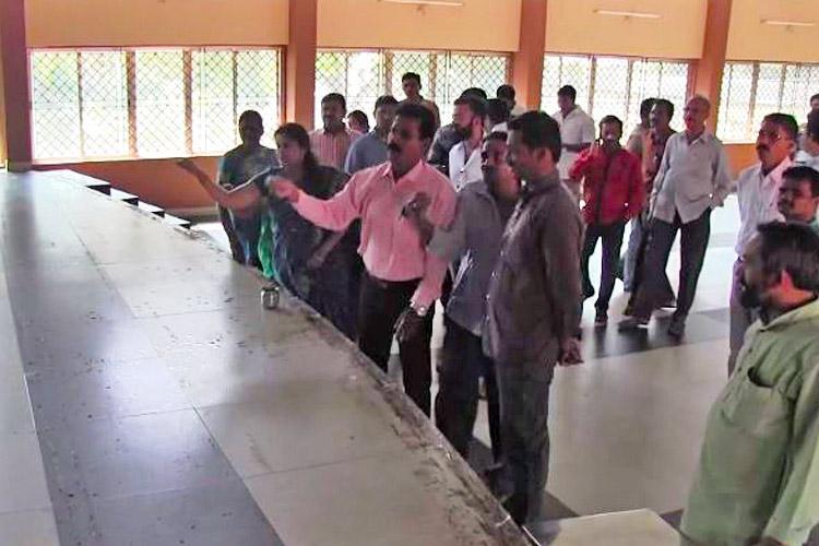 BJP Yuva Morcha shocker Cow urine sprinkled to purify venue after Prakash Raj speech