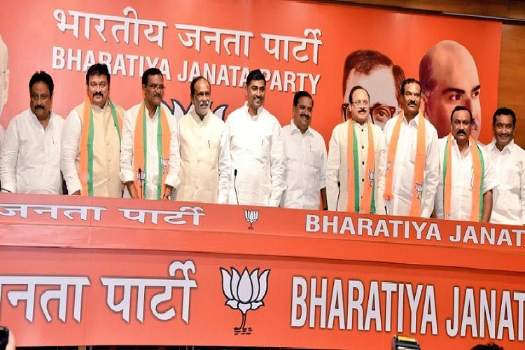 Three more TDP leaders quit party to join BJP in Andhra