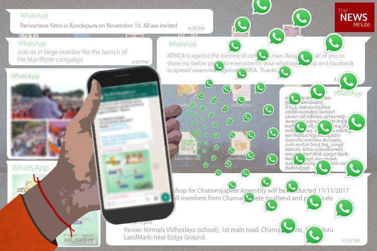 Karnataka BJP builds WhatsApp army ahead of polls foot soldiers in 50000 groups soon