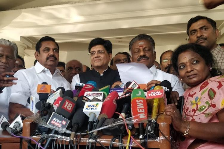 AIADMK and BJP finalise seats in TN but disagree over North Chennai