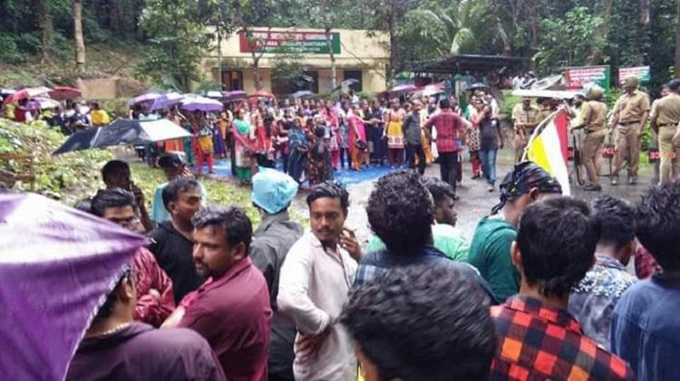 Destruction of cross in Keralas Bonacaud forest Believers protest CM assures action