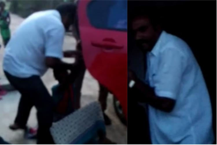 Caught on camera Ktaka man abducts woman forces her into bonded labour