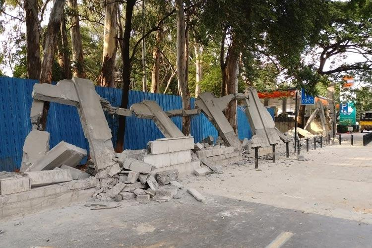Bengalurus Bowring Institute cries foul as BBMP demolishes compound wall