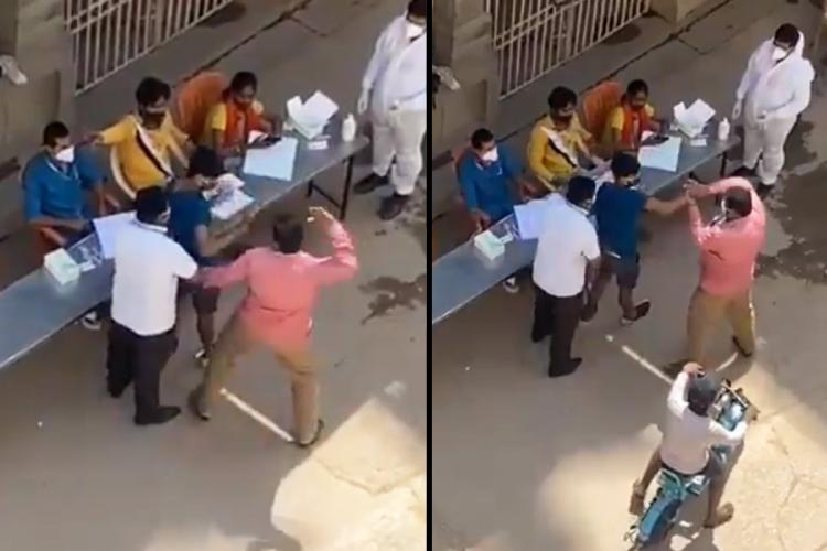 Bengaluru boy getting thrashed by BBMP official for refusing COVID-19 test