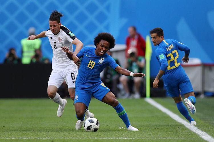 FIFA World Cup Brazil edge past brave Costa Rica with last gasp goals