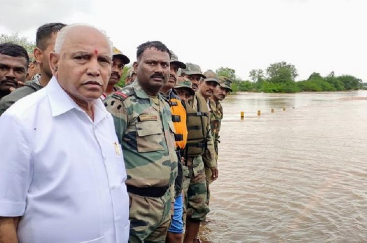 Karnataka floods Death toll climbs to 16 more than 2 lakh people evacuated