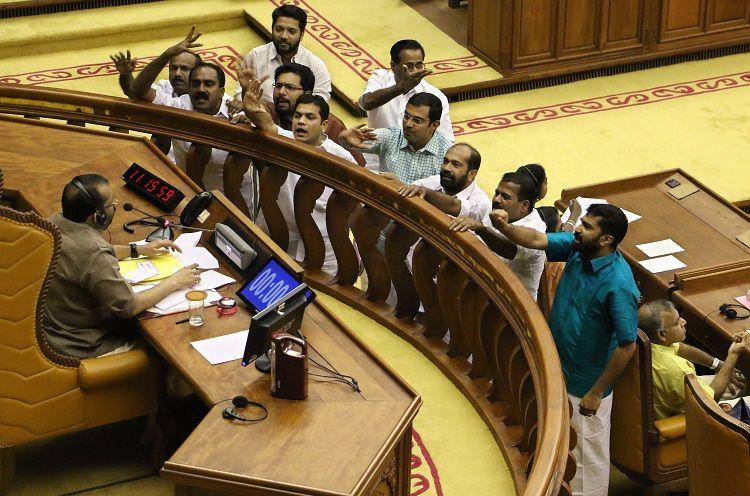 Was Shiv Sena hired by the opposition asks Pinarayi Pandemonium breaks out in assembly