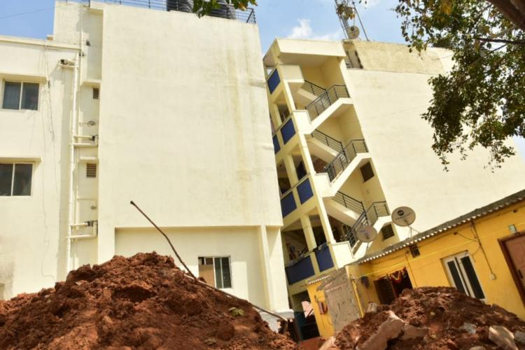 Bengaluru civic body begins razing down 5-storeyed building that tilted